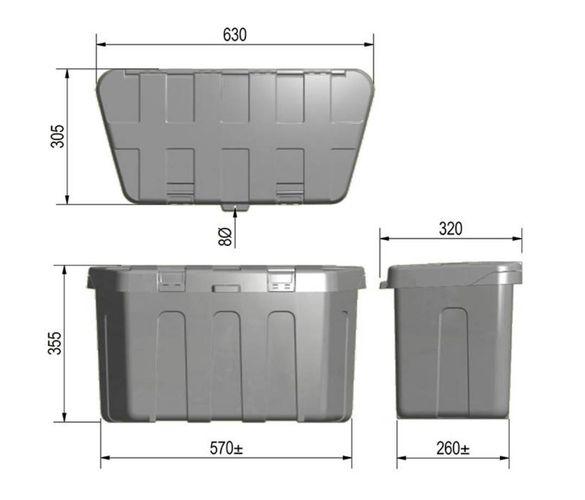aufbewahrungsbox f r die anh ngerdeichsel wohnmobil. Black Bedroom Furniture Sets. Home Design Ideas
